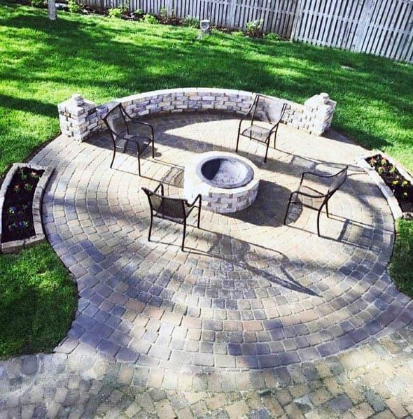 Circle Paver Stones Unique Patio Firepit
