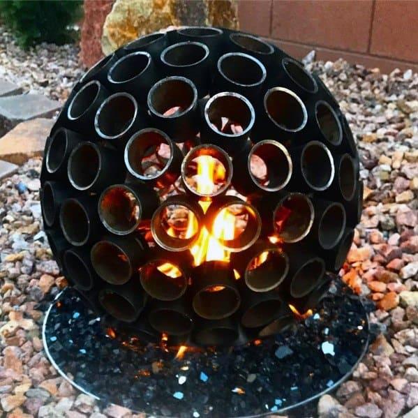 Circular Magnificent Metal Fire Pit Design Ideas