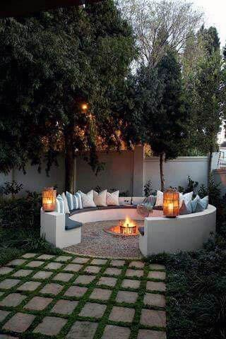 Circular Seating Home Design Ideas Patio Firepit