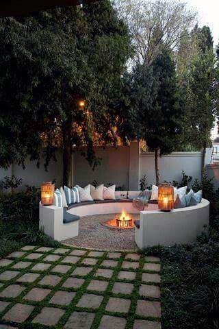 Circular Seating Home Design Ideas Patio Firepit