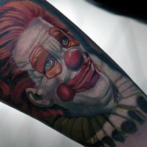 Circus Clown Guys Arm Tattoos