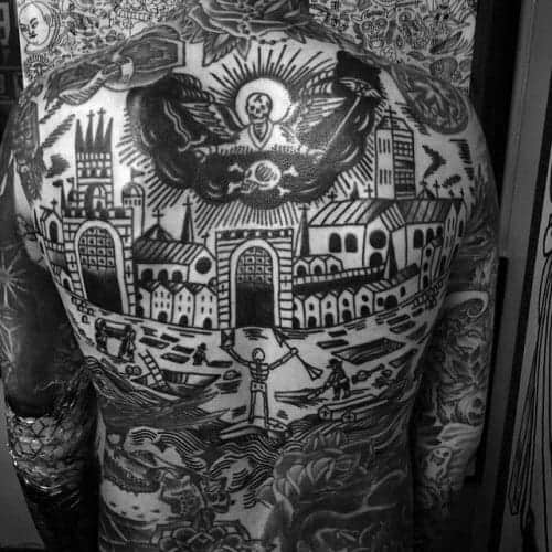 city-skyline-traditional-back-male-tattoos
