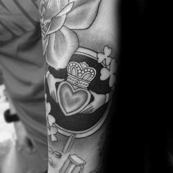 Claddagh Tattoo Forearm Sleeve For Men
