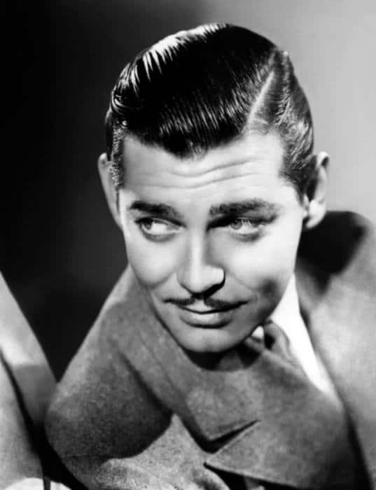 Clark Gable Slicked Comb Over 1930s Mens Haircut
