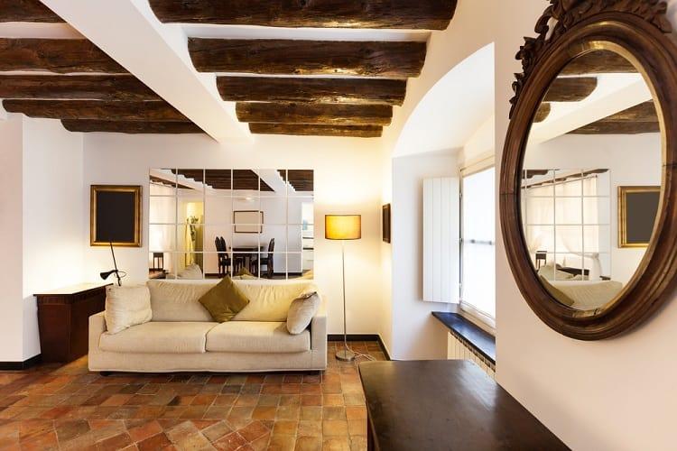 Classic Beautiful Apartment Beam Ceiling