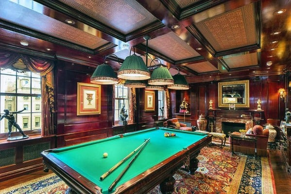 Classic Billiards Room Designs