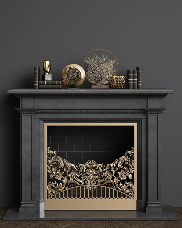 Classic Black Fireplace Mantel Decor
