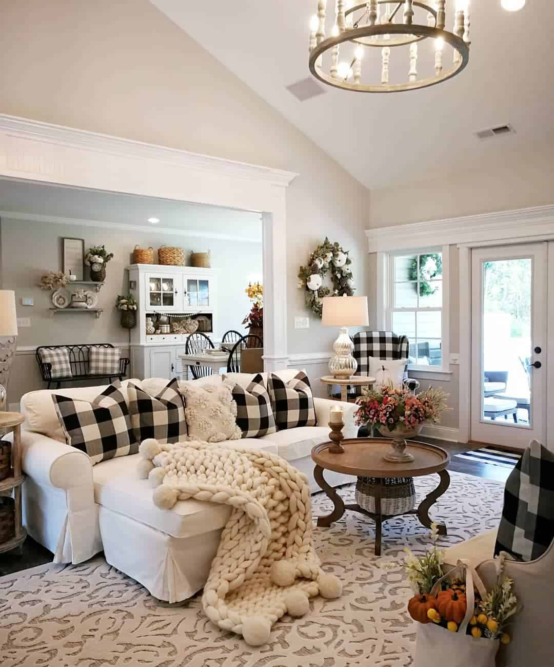 Classic Farmhouse Farmhouse Living Room Ideas Bridgewaydesigns