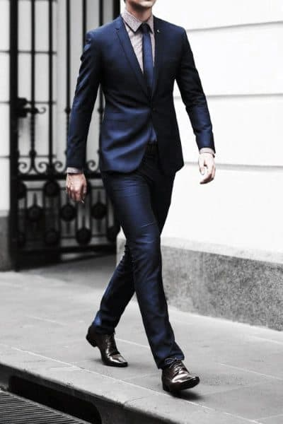 Classic Guys Navy Blue Suit Styles