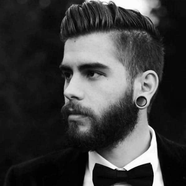 Classic Hard Part Comb Over Mens Hair