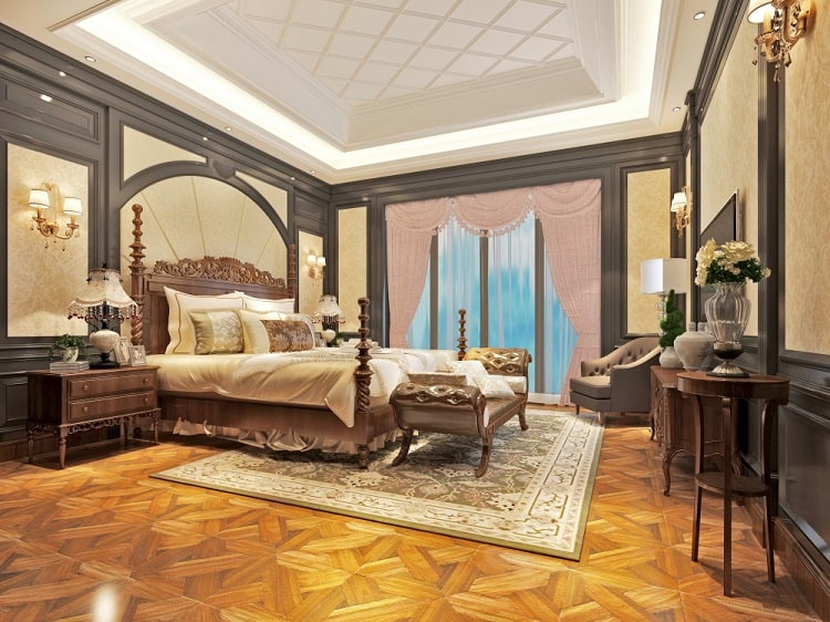 Classic Master Bedroom Tray Ceiling