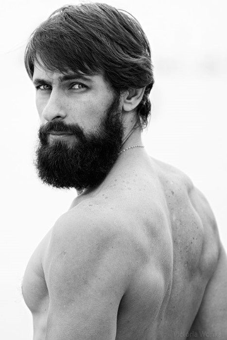 High Quality Classic Mens Hairstyles Straight Hair With Beard