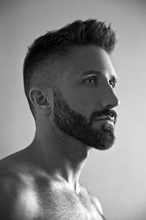 Classic Mens Low Fade Haircut With Spiked Front