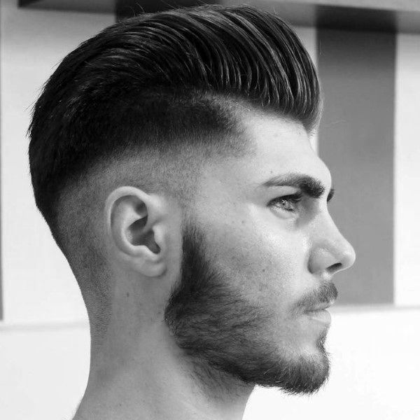 Captivating Classic Pompadour With Trendy High Fade Hairstyles For Males