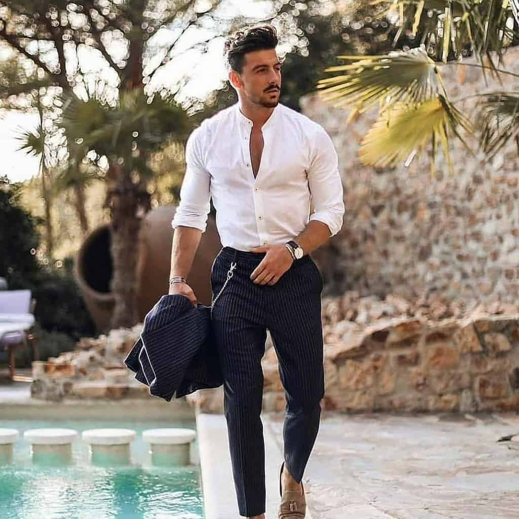Classic White Mens Suit Style