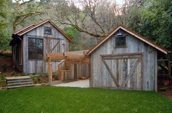 Classic Wood Backyard Shed Ideas