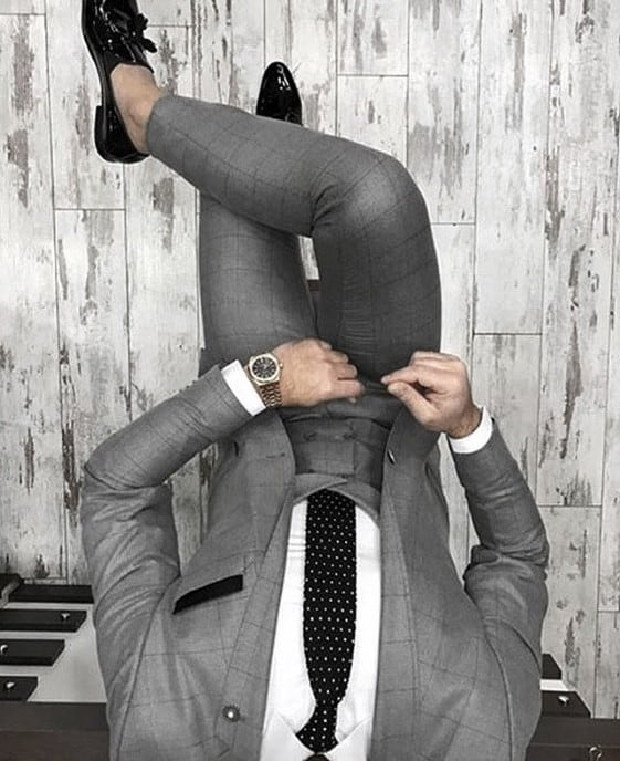 Classy Black Tie Male Charcoal Grey Suit Black Shoes Styles