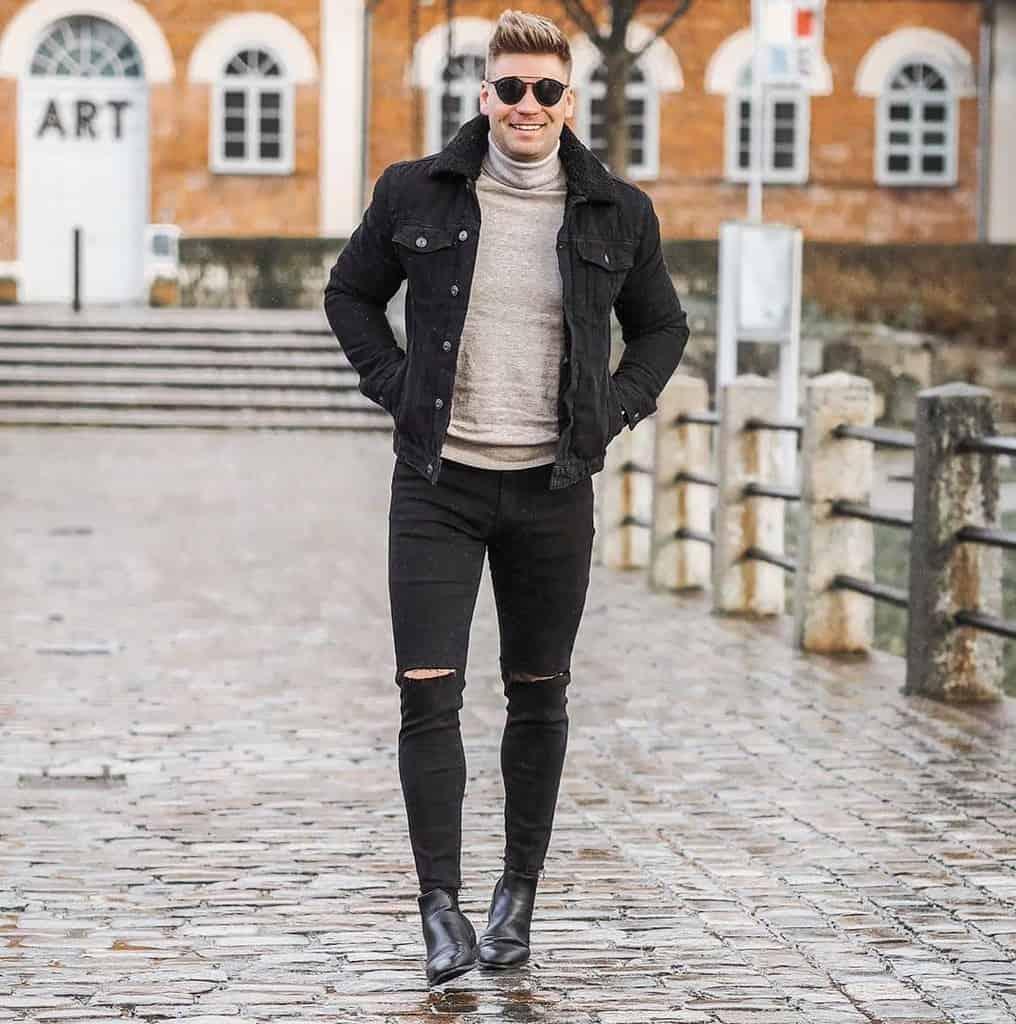 Classy Denim Club Outfit