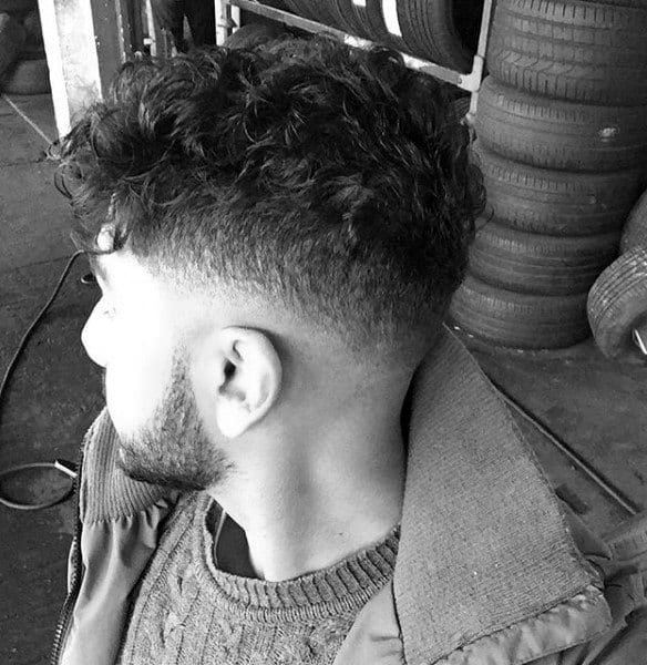 Classy Low Curly Fade Guys Hairstyle Ideas