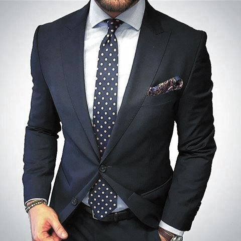 Classy Male Navy Blue Suit Styles