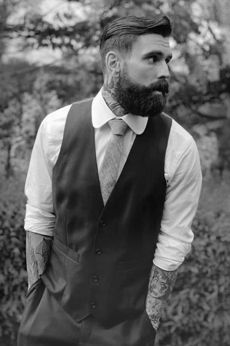 Classy Mens Undercut Beard Hairstyle Inspiration