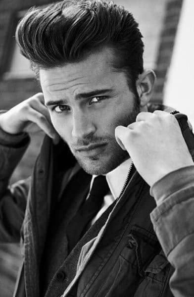 Classy Pompadour Hairstyle Medium Length For Males