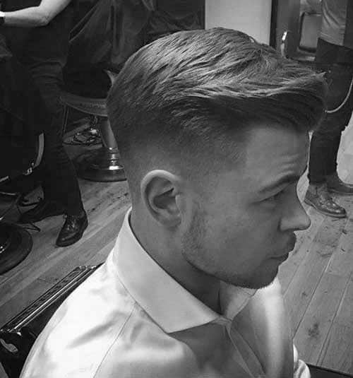 Classy Side Swept Short Fade Mens Hairstyle Ideas