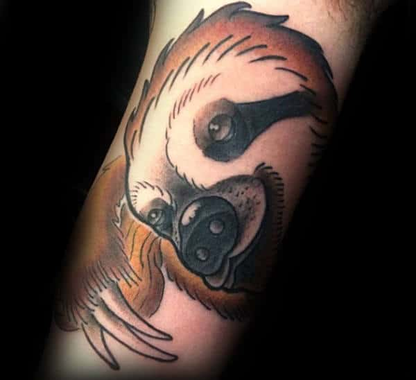 Clawing Sloth Mens Inner Arm Tattoo Designs