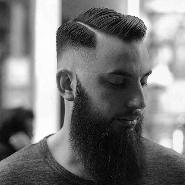 Clean Cut Hard Part Mens Hair Style