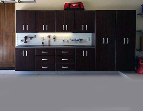 Clean Organized Cabinet Design For Garage Storage