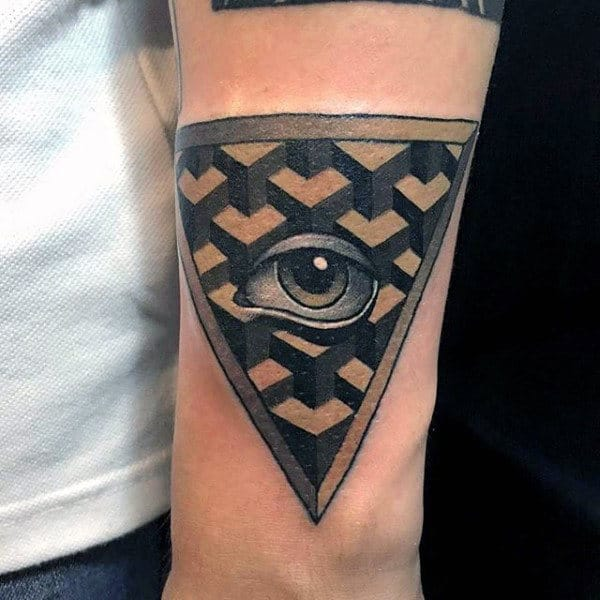 Clear Eye Male Illumnati Tattoo