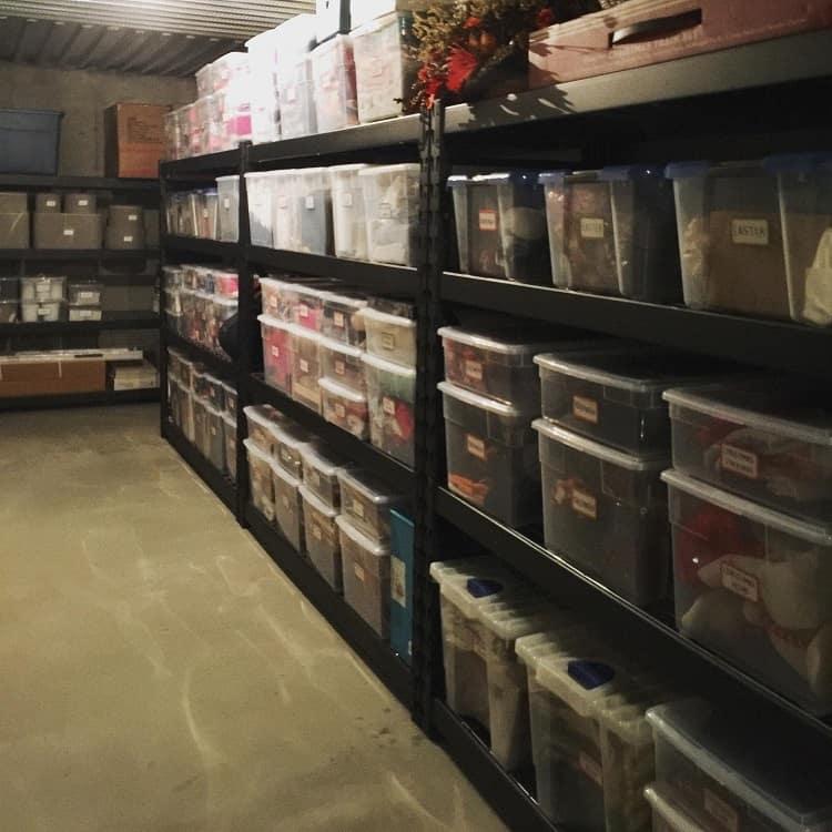 Clear Medium Bin Basement Storage