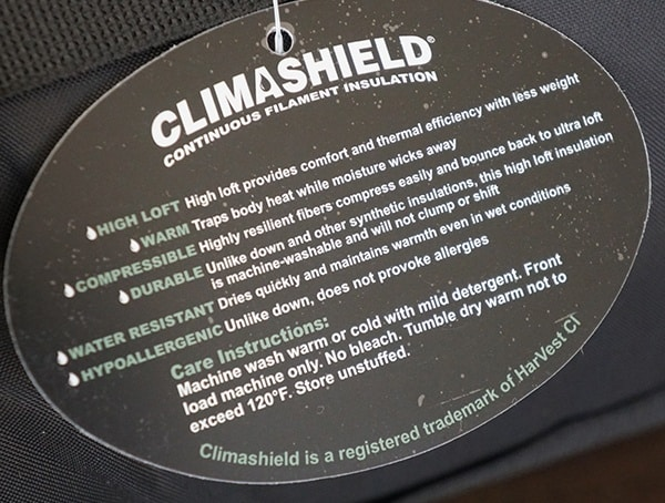 Climashield Continous Filament Insulation Tactical Kelty Sleeping Bag