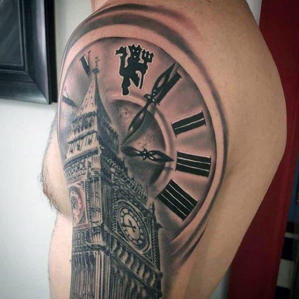 Clock Big Ben Tattoo Ideas For Males