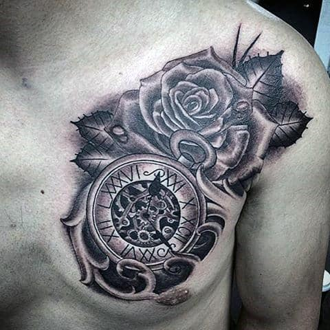 Clock Tattoo Design Ideas For Men