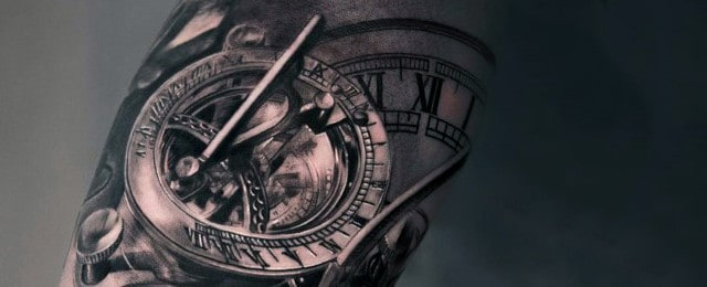 And Fashion gt 80 Clock Tattoo Designs For Men Timeless Ink Ideas