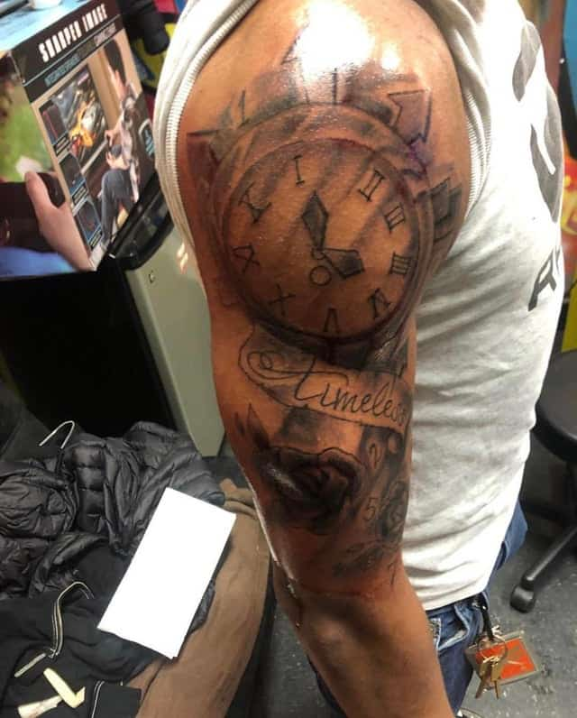 clock tattoo fail