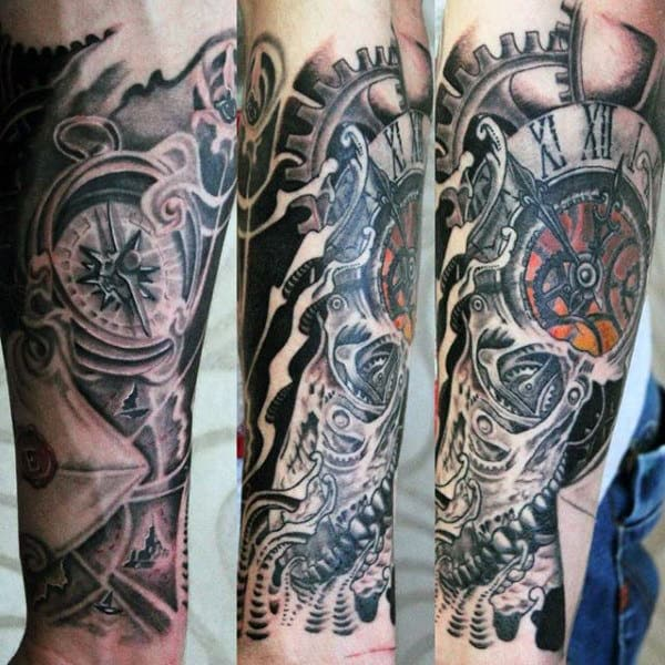 Clock Tattoo Ideas For Men