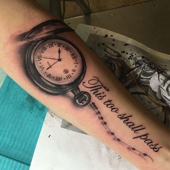 Clock This Too Shall Pass Tattoo