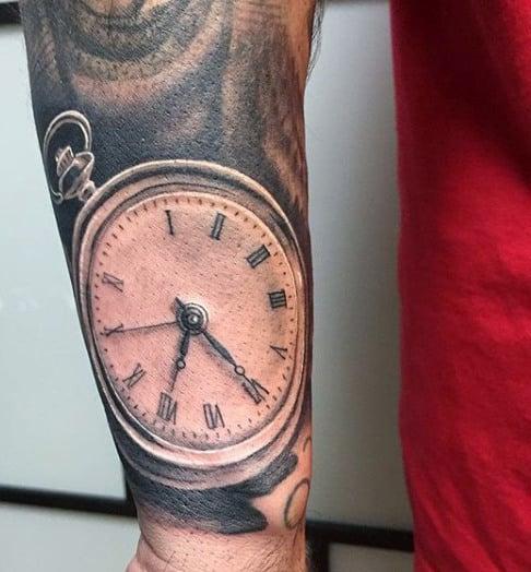 Clock Work Men's Tattoo
