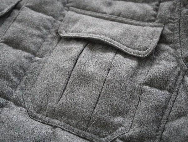 Closed Front Pocket Flap Mens Nau Utility Wool Down Jacket