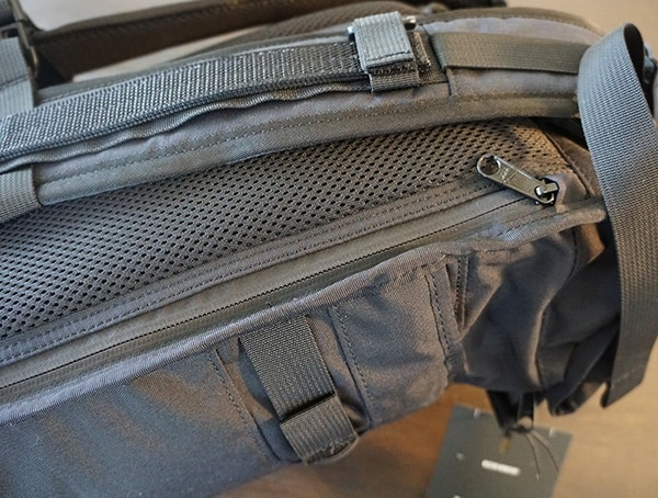 Closed Side Compartment For Laptops On Mission Workshop The Rhake Backpack