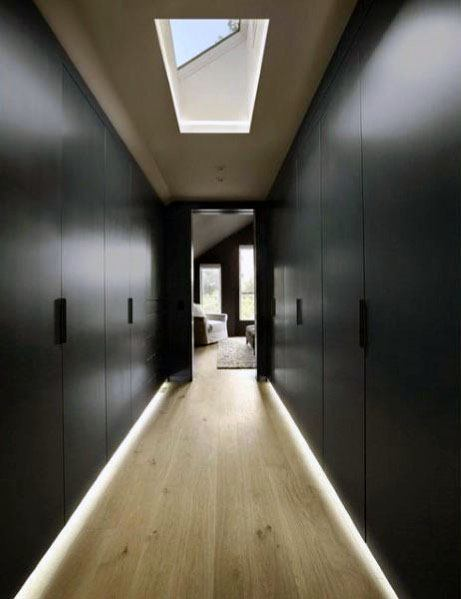 Closet Baseboard Lighting Design Inspiration