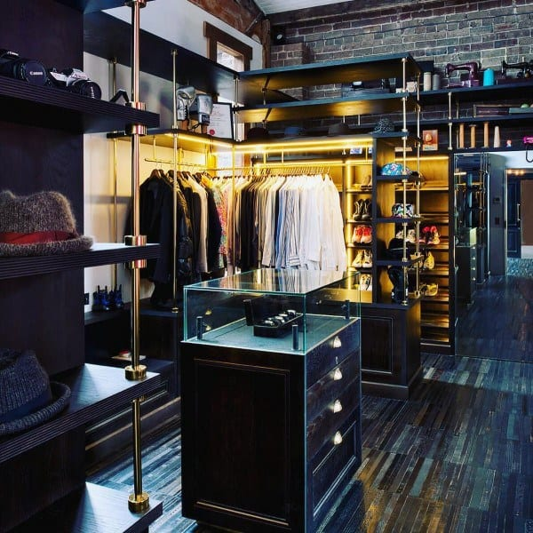 Closet Industrial Interior Design