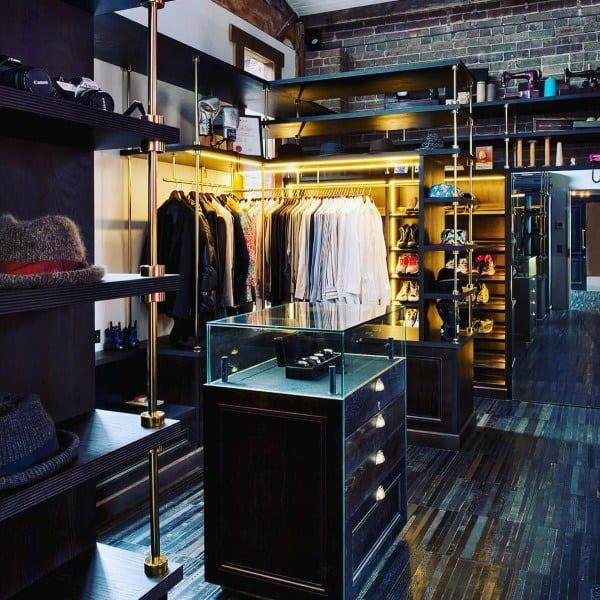 Closet Industrial Interior Design