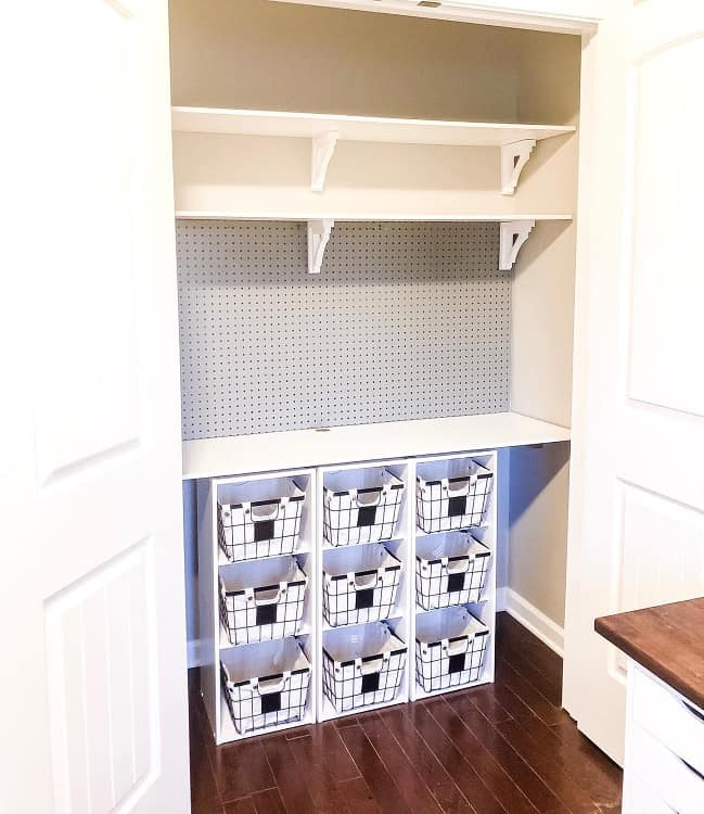 Closet Laundry Pegboard Ideas Thesassyfarmhouse