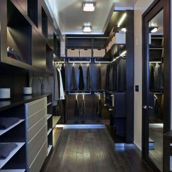 Closet Lighting Interior Design For Men