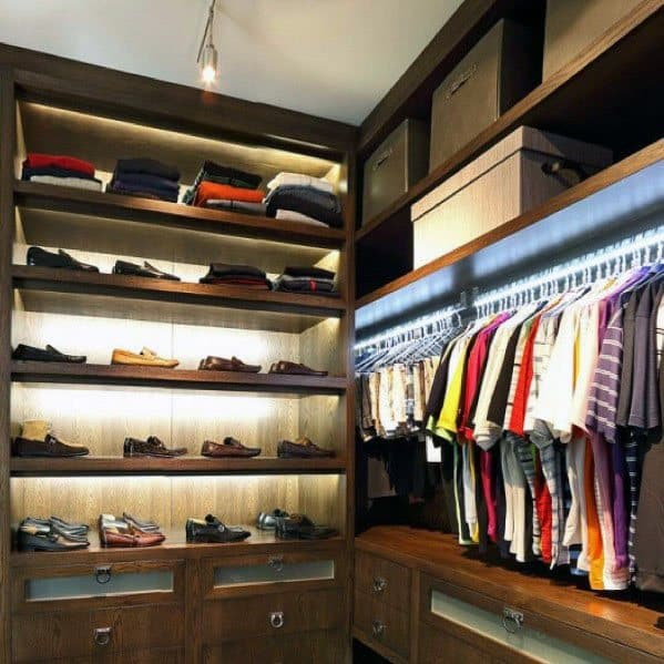 Closet Lighting Interior Ideas For Guys