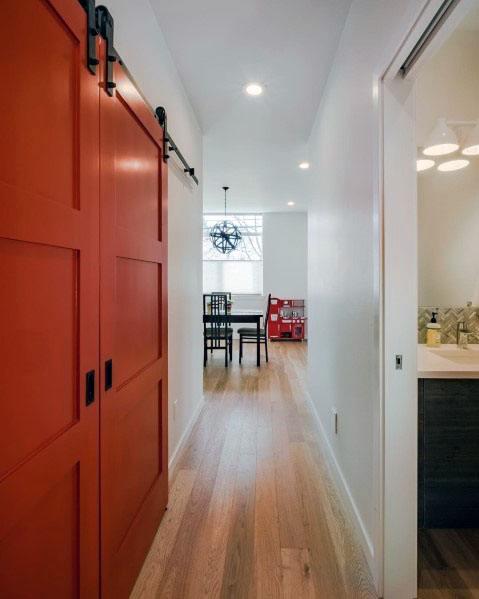 Closet Red Barn Door Ideas