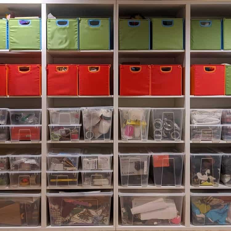 Cloth Bin Basement Storage